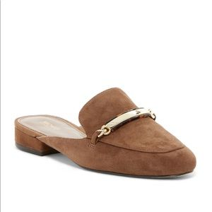 💕Michael Kors Suede Nadia Leather Slide Mule